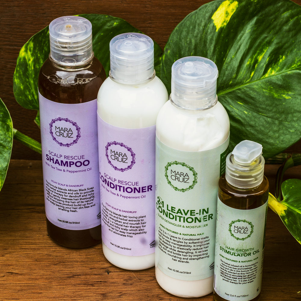 Scalp & Hair Care System for Natural hair