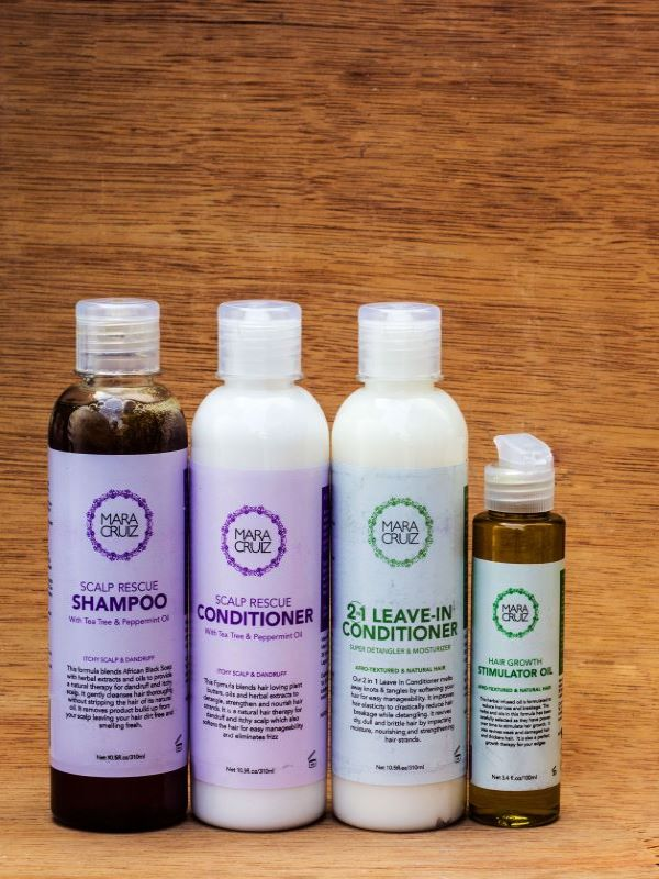 scalp and hair care system for natural hair